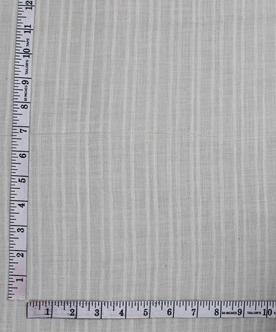 Handloom Off White Handspun Cotton Fabric