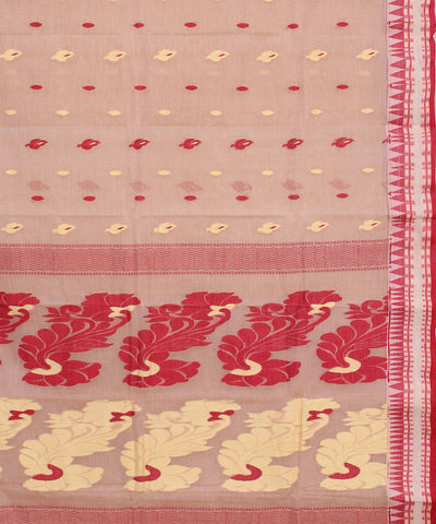 Bengal Handwoven Light Beige Tant Saree