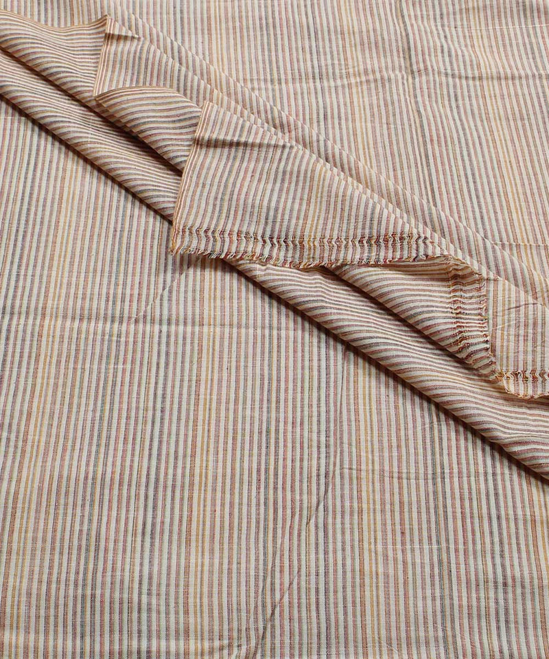 Multicolor Stripe Handspun Handloom Fabric