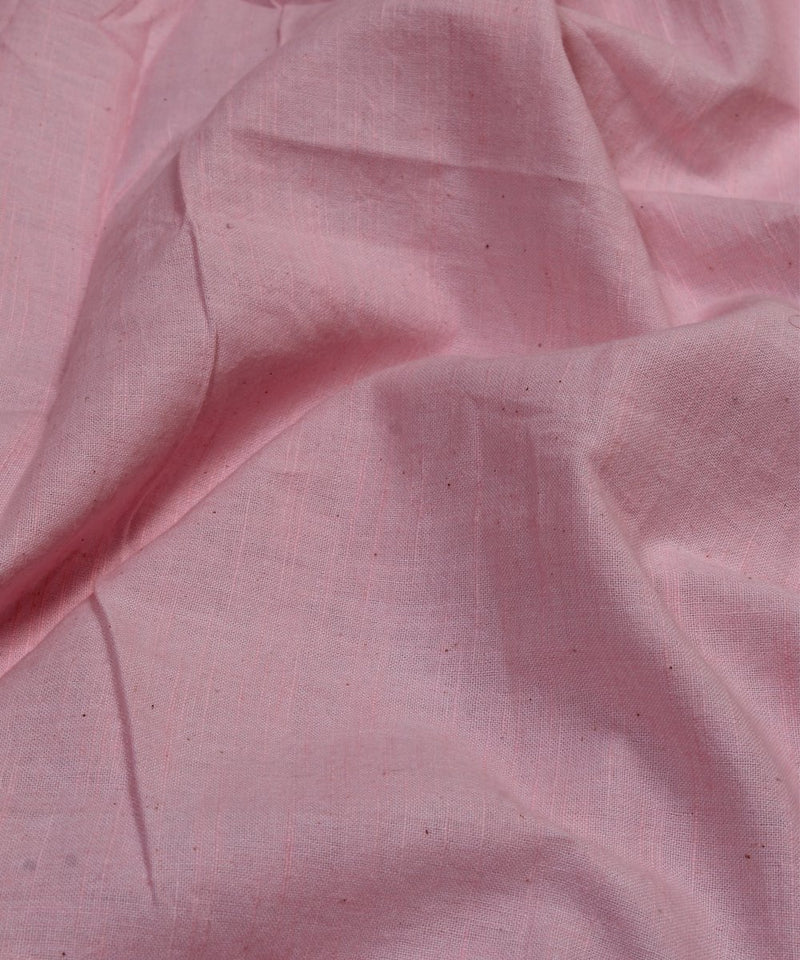 pink handloom handspun cotton fabric