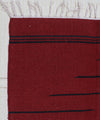 Dark Maroon Handwoven Cotton Dhurrie