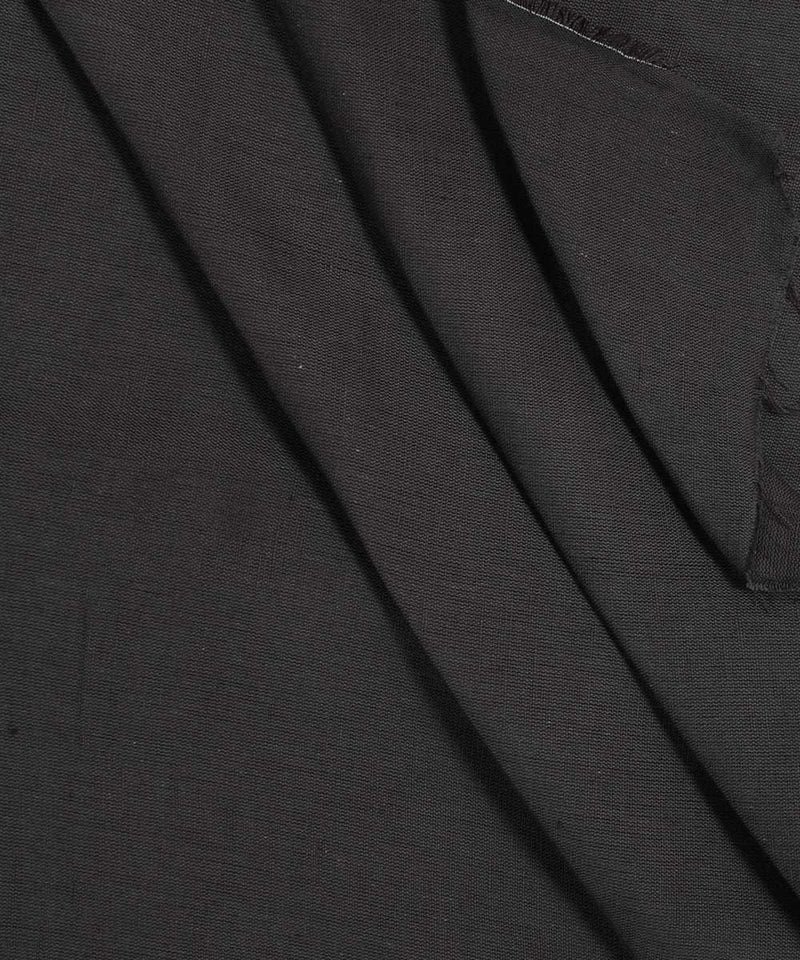 Dark Grey Handloom Cotton Linen Fabric