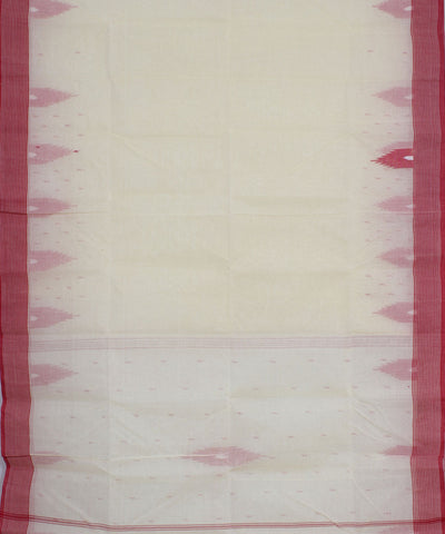 Handloom Off White Tant Cotton Saree