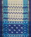 Bengal Handwoven Blue White Tant Cotton Saree