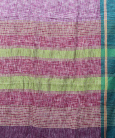 Handloom Light Pink Bhagalpur Linen Saree