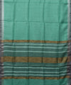 Handloom Sea Green Bhagalpur Linen Saree