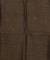 Handwoven Brown Bhagalpur Linen Saree