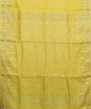 Handloom Bhagalpur Linen Yellow Saree