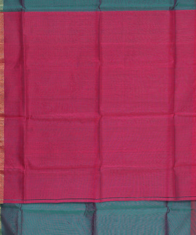 Maheshwari Teal and Pink Handwoven Sico Saree
