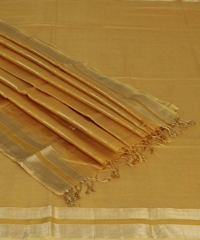 Maheshwari Mustard Brown Handloom Sico Saree