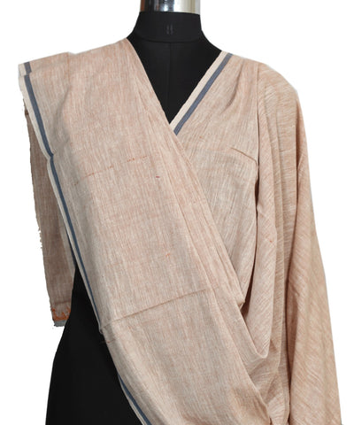 Handloom Hand Craft Brown Cotton Dupatta