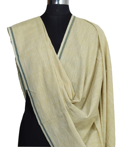 Beige Handloom Hand Craft Cotton Dupatta