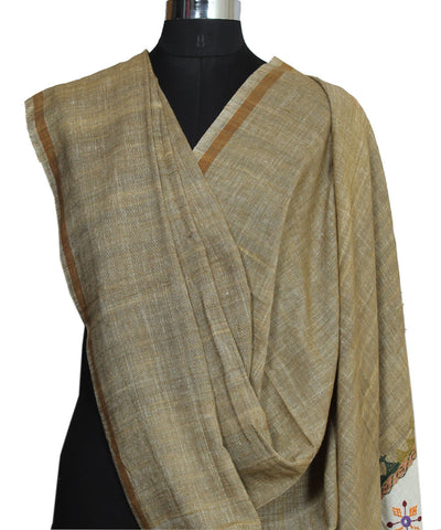 Handloom Hand Embroidery Spun Cotton Dupatta