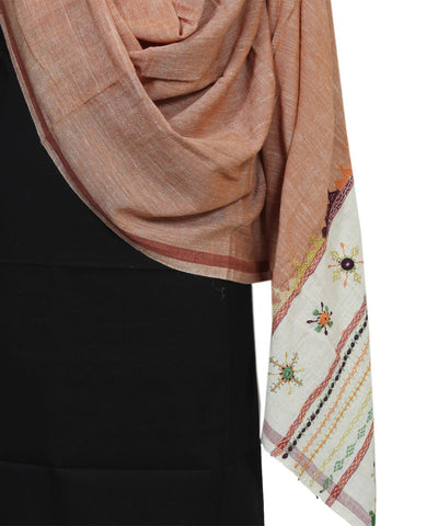 Hand Embroidery Spun Cotton Handloom Dupatta