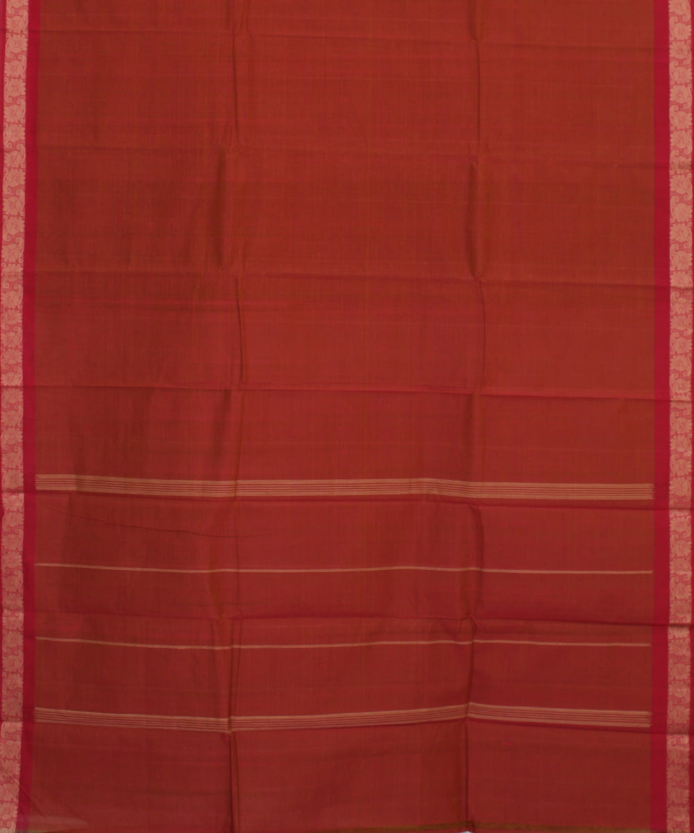 Red Handloom Kanchi Cotton Saree