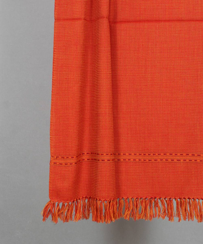 orange handloom woolen stole