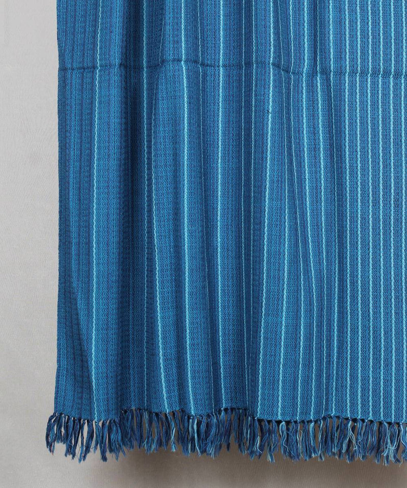 shades of blue handloom woolen shawl