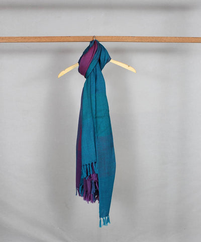 blue purple handloom woolen shawl