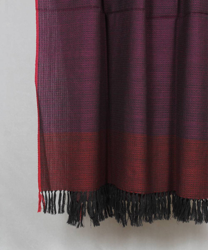 dark wine handwoven woolen shawl