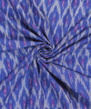 Blue Purple Pochampally Ikat Cotton Fabric