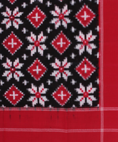 Red Black Handloom Telia Rumal Cotton Dupatta
