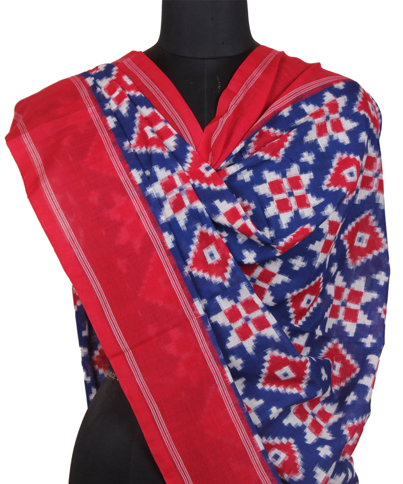 Royal Blue Handwoven Telia Rumal Dupatta
