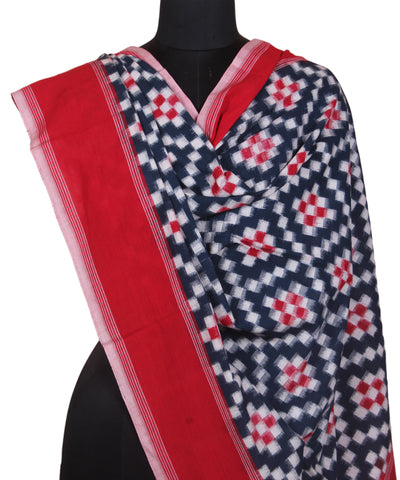 Handloom Blue Telia Rumal Cotton Dupatta