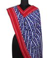 Blue Handloom Pochampally Cotton Dupatta