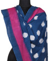 Polka Dot Handloom Pochampally Cotton Dupatta