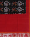 Handloom Pochampally Cotton Black Dupatta