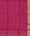 Chanderi Fuschia Pink Handwoven Sico Saree