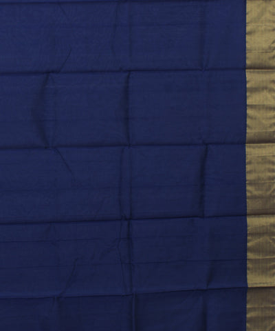 Navy Blue Chanderi Handloom Sico Saree