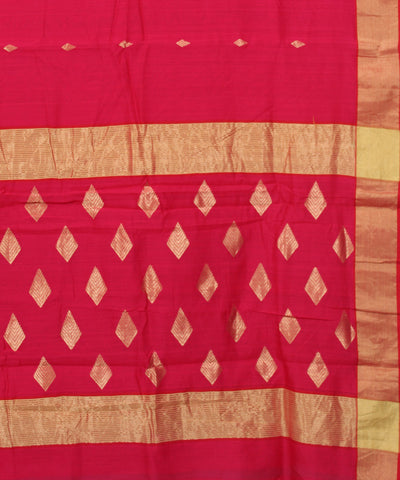 Chanderi Pink Handwoven Silk Cotton Saree