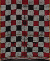 Checkered Chanderi Hand Print saree