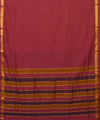 Magenta Mangalgiri Handloom Cotton Saree