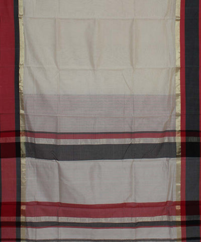 Off White Maheshwari Handwoven Sico Saree