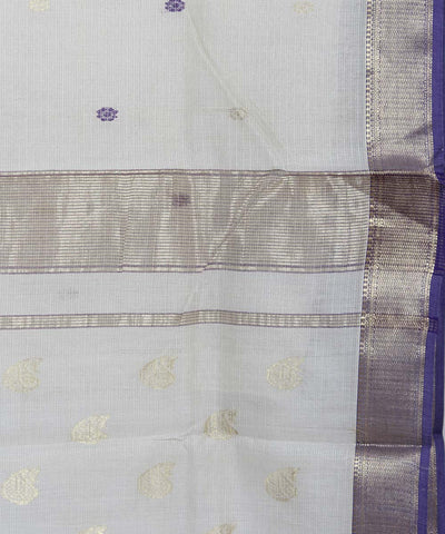 Off White Sico Maheshwari Handwoven Saree