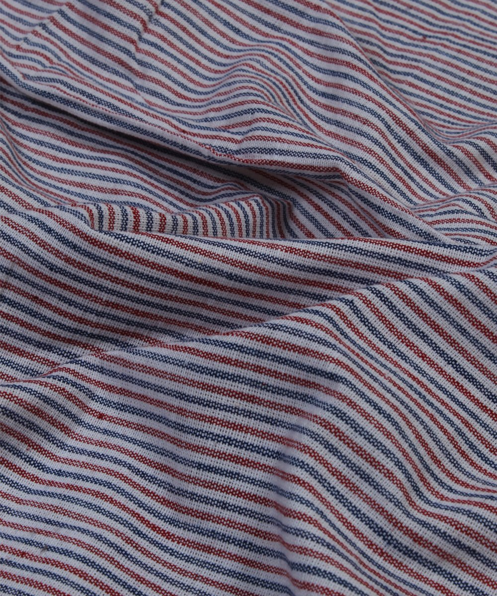 multicolor striped handloom cotton fabric
