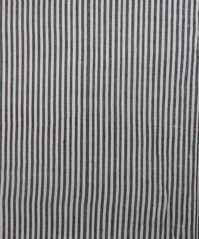 Black and White Striped Cotton Fabric