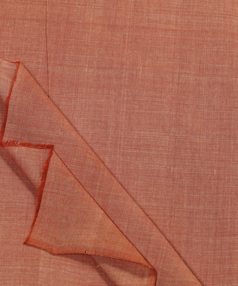 Light orange handloom mangalagiri cotton fabric