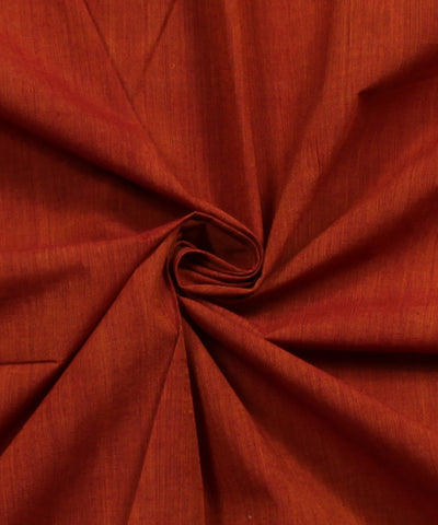 Red Orange Mangalgiri Handwoven Cotton Fabric