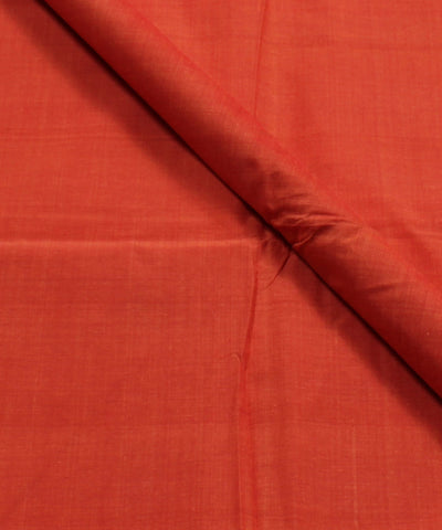 Orange Mangalagiri Handloom Cotton Fabric