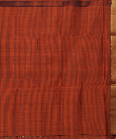 Copper Brown Mangalgiri Handloom Cotton Saree