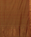 Mangalgiri Handloom Olive Peach Cotton Saree