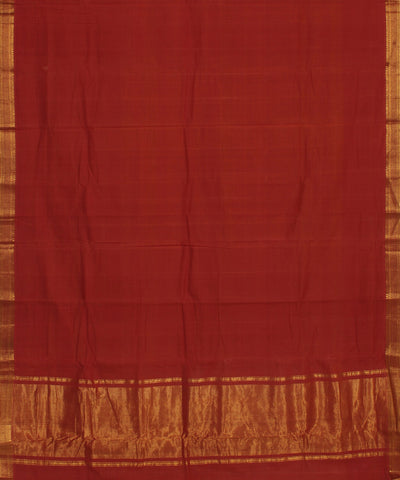 Mangalgiri Handloom Rust Orange Cotton Saree