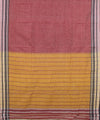 Peach Mustard Handloom Hubli Cotton Saree