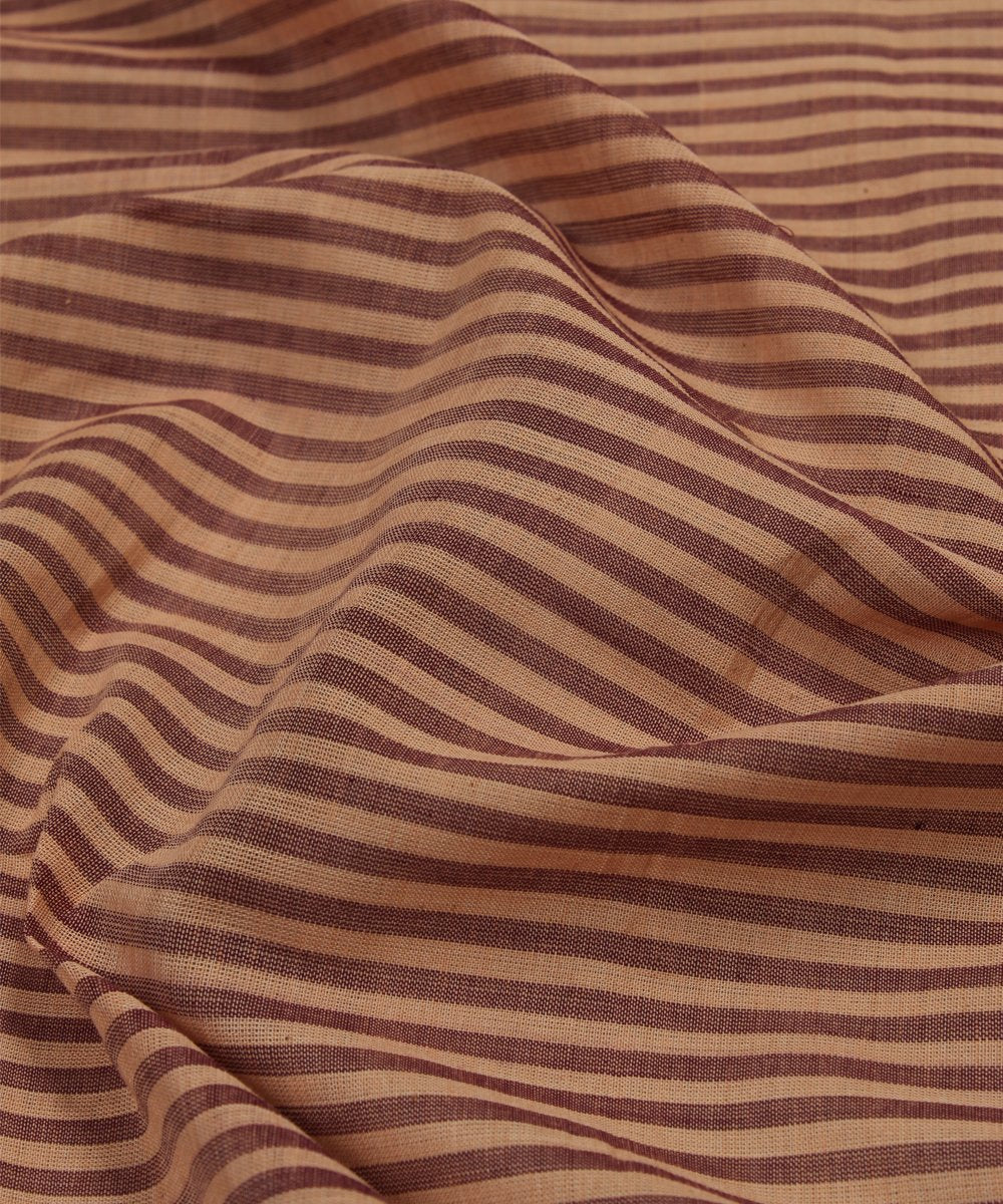 brown handloom mangalagiri fabric
