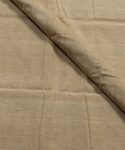 Light Beige Handspun Handwoven Cotton Fabric