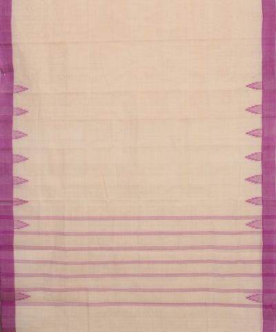 Light Cream Kanchi Handloom Cotton Saree