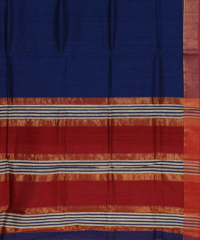 Royal Blue Handwoven Maheshwari  Sico Saree